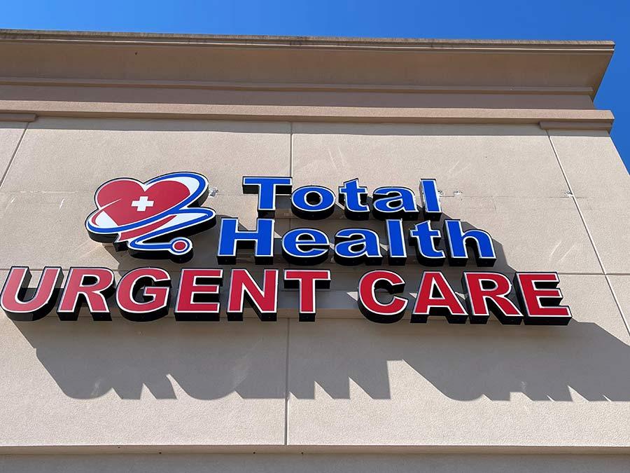 Total Health Urgent Care building sign